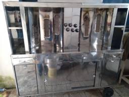 Título do anúncio: Maquina de shawarma , com 2 espetos e motor