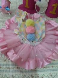 Fantasia Circo Rosa pra menina 1 ano!!