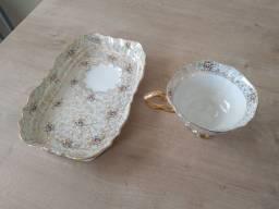 Conjunto De Chá Grego Em Porcelana, Pintado a Mão.