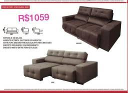 Título do anúncio: Sofá cama em dois tons maravilhosos  om assento retrátil em todos os lugares