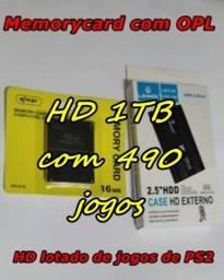 Título do anúncio: HD para PS2!!! com 490 jogos