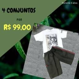04 conjuntos novos por R$99,00 - 06 anos