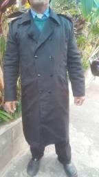 Sobretudo casaco em tecido oxford usado
