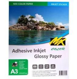 Papel Fotográfico Adesivo Glossy A4 135gr - 20 Folhas