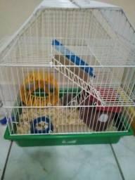 Gaiola+Hamster+Palha e Comida