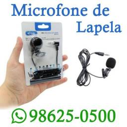 (Entregamos) Microfone de Lapela para gravação de audio (Loja Física)