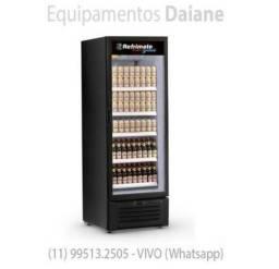 Expositor 505L de cervejas, cervejeira vertical porta de vidro, visa cooler -Refrimate