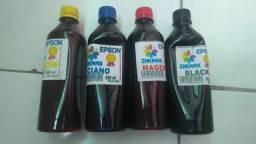 4 Frascos de Tintas Recargas p/ impressora Epson L355 L365 550 ML