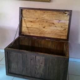 Baú de pallet/ palete madeira