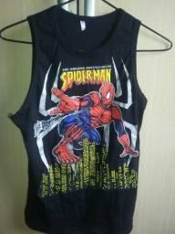 Camisa Homem-Aranha 12anos