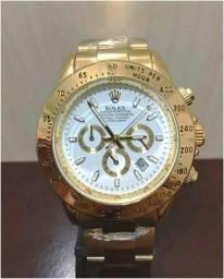 ef063aeeb6a Relógio Rolex Daytona Dourado e Branco Unissex Novo Frete grátis
