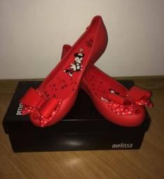Sapatilha Melissa vermelha da Minnie número 38, novinha bem barata