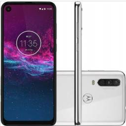 Celular Motorola One Action 128 Gb Branco Seminovo