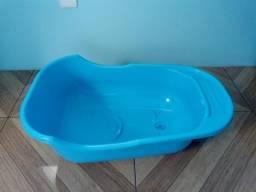 Usado, Banheira de bebê azul + saboneteira comprar usado  Lauro de Freitas
