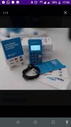 Não perca venda com a maquininha Point mini BLUE do mercado pago , com LED