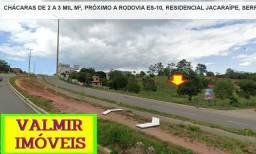 Chácaras, para empresas, de 2 a 3 mil m², registradas, Jacaraípe, a 30 km de Vitória