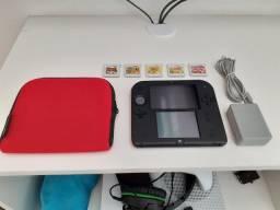 Nintendo 2DS + Case + 7 Jogos (Pouco Usado)