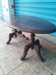Mesa de centro em madeira maciça imbuia