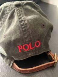 Boné Polo Ralph preto estonado, ajustável, original, importado