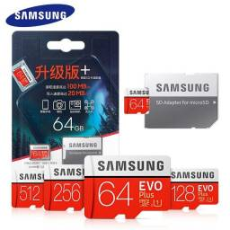 Título do anúncio: Cartão de memória 128gb sdxc UHS-I 256gb 512gb 4k cartao de memoria samsung evo plus sdhc
