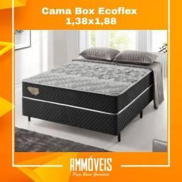 Promoção Cama Box Molas Ensacadas 1,38x1,88 Entrega Grátis
