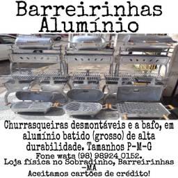 Churrasqueiras em alumínio batido