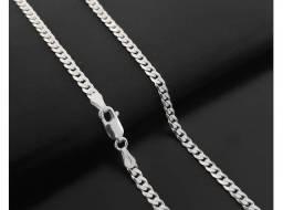 Título do anúncio: Corrente escama de peixe [3mm] - prata legítima
