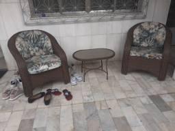 Título do anúncio: Conjunto 2 cadeiras e 1 mesa com vidro