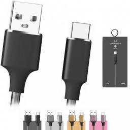 Cabo Usb Tipo C Metálico