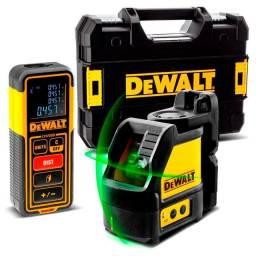 Título do anúncio: Combo Medição Nível a Laser Verde + Trena a Laser com Maleta Tstak 30M Dewalt DW0889CG-XJ