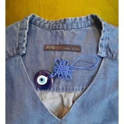 Título do anúncio: Blusa Jeans G Zara Basic.