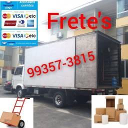 Título do anúncio: Frete baú caminhão aceitamos cartões e pix