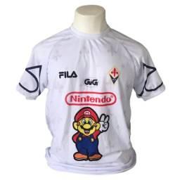 Título do anúncio: camiseta fiorentina 1996/1997 nintendo mario world