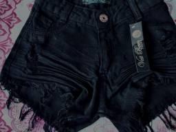 Título do anúncio: Short Jeans Preto Novo (Nunca Usado)