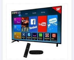 """Smart TV LED 50"""" Hyundai HY50ATFA full HD Wi-Fi / HDMI / USB com conversor Digital"""