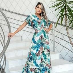 Vestido Longo Versat Luxo