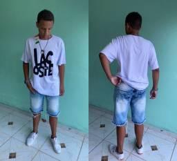 Camisas e Bermudas Jeans