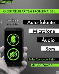 Título do anúncio: Celular com problema de som