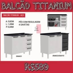 BALCÃO TITANIUM BALCÃO TITANIUM BALCÃO TITANIUM REAL MÓVEIS JSNDNND