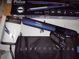 Título do anúncio: ACEITO CARTÃO... Prancha Philco Chrome Blue  com Placas de Titânio Azul - Bivolt<br><br>
