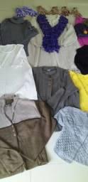 Lote de roupas lã