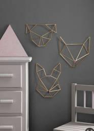 Enfeite geométrico para parede.