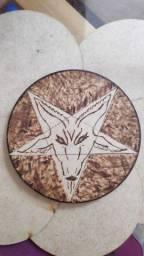 Título do anúncio: Porta copos Pentagrama Baphomet