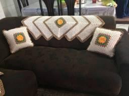 Trilho para sofá de crochê