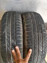 2 pneus aro 13 semi novos Goodyear