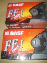 Fitas Cassete Basf Ferro Extra Pack c/2 unid.Lacradas