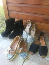 Lote c/4 calçados n34