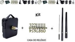 Maquina Quartz - Relógio de Parede - 1 Kit Completo
