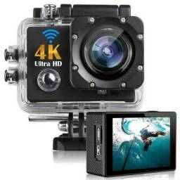 Action Câmera HD Go Sport Wi-fi 4k 1080p Prova D'água + Acessórios