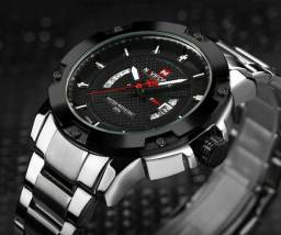 Relógio Navi Force Aço Inox Resistente Água